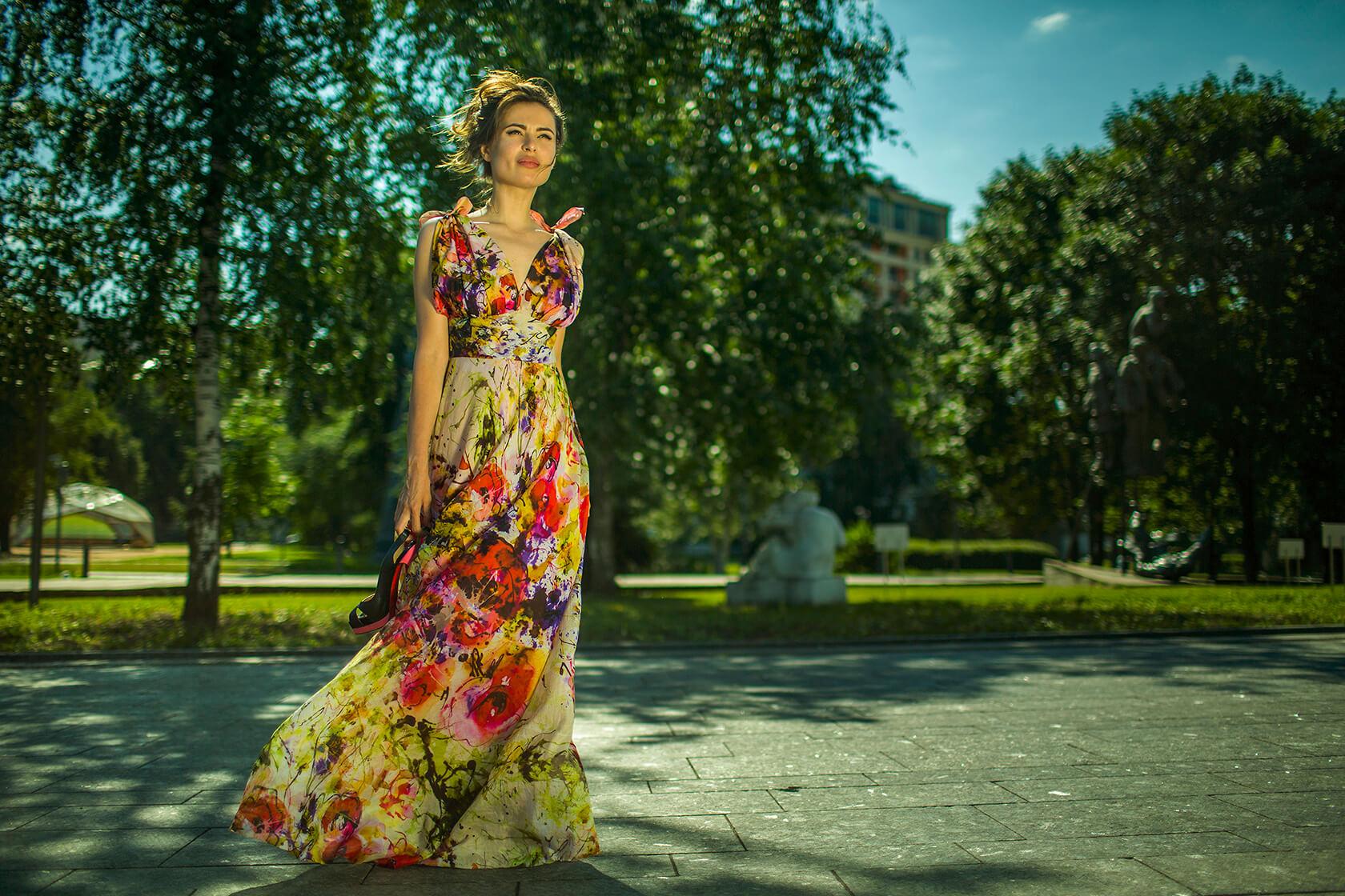 Платье женское батист
